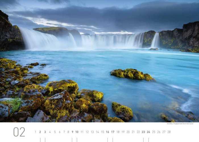 Kalenderblatt Februar 2019 Island