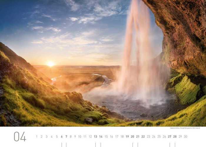 Kalenderblatt April 2019 Island