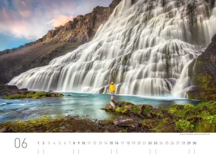 Kalenderblatt Juni 2019 Island