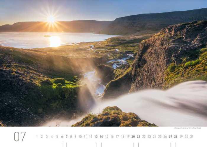 Kalenderblatt Juli 2019 Island