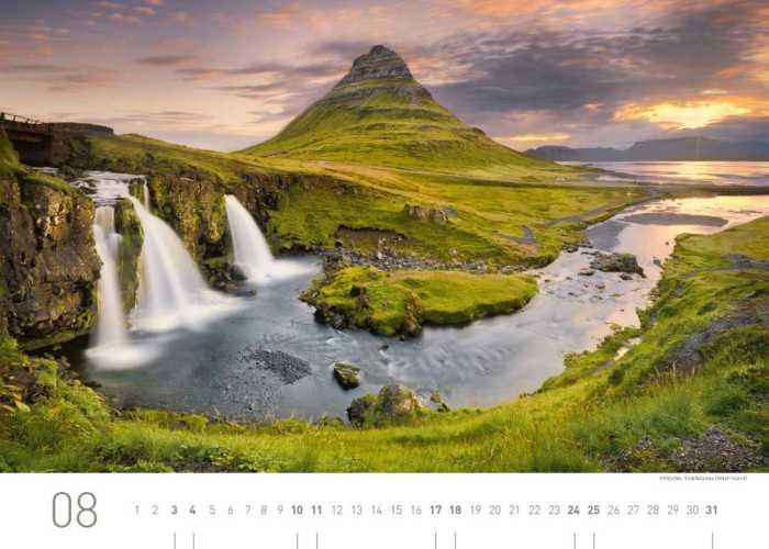 Kalenderblatt August 2019 Island