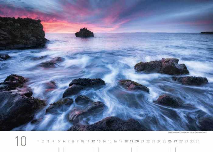 Kalenderblatt Oktober 2019 Island