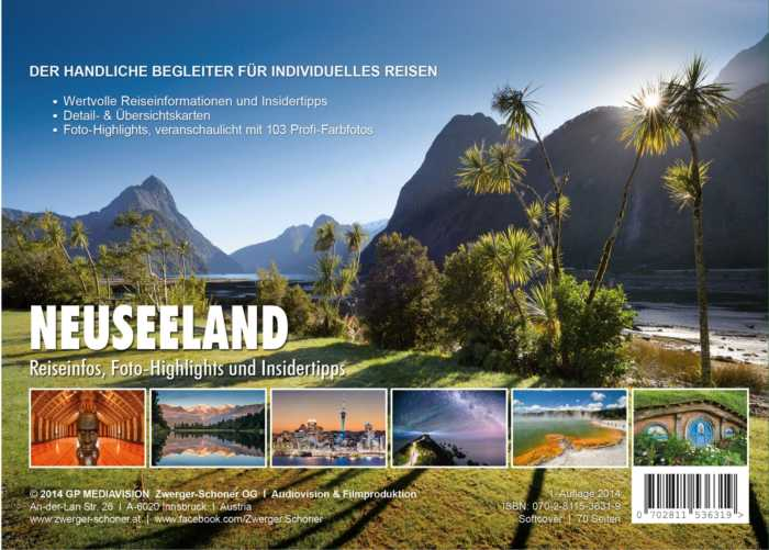Wertvolle Neuseeland-Reisetipps handlich verpackt in einer Reisebroschüre von Zwerger-Schoner