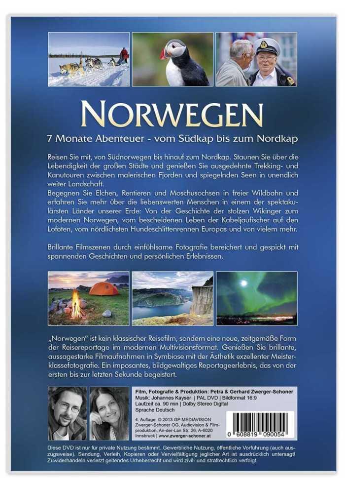 Norwegen imposant inszeniert als Foto-Film-Reportage von Zwerger-Schoner