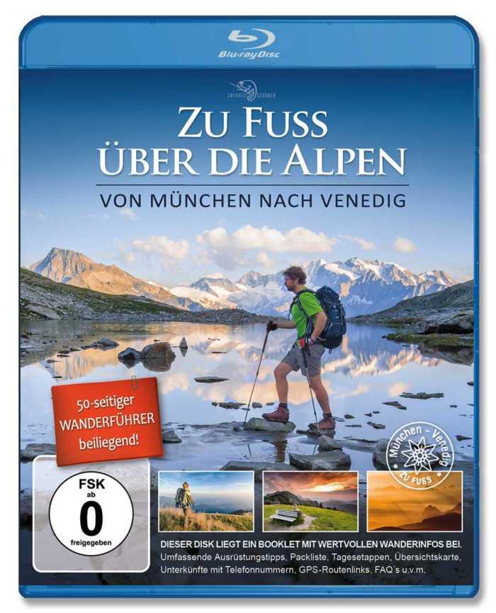 Bluray zur Film-Dokumentation Zu Fuß über die Alpen mit beigefügtem 50-seitigem Booklet von Zwerger-Schoner