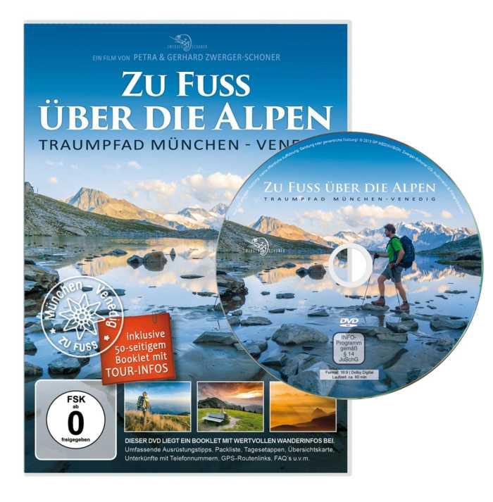 Die Traumpfadwanderung auf DVD und einer beiliegenden 50-seitigen Wanderbroschüre