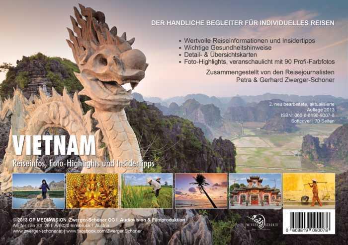 Interessante Vietnam-Reisetipps handlich verpackt in einer Reisebroschüre von Zwerger-Schoner