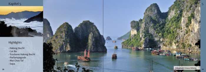 Vietnam-Highlights wie zum Beispiel die Halong Bucht