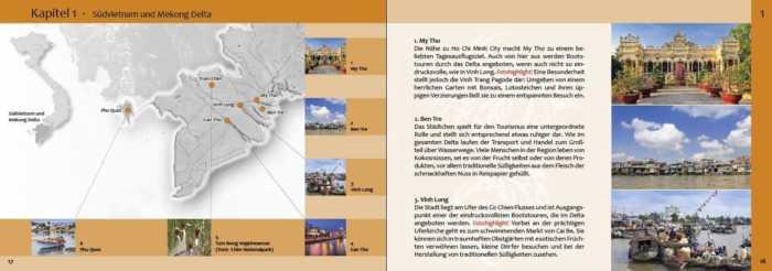 Übersichtskarte zu Südvietnam und Mekong Delta