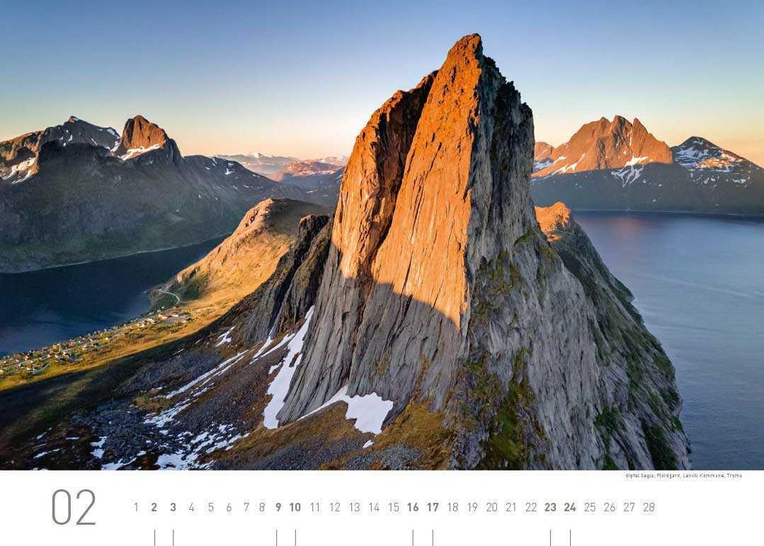 Kalenderblatt Februar 2019 Norwegen
