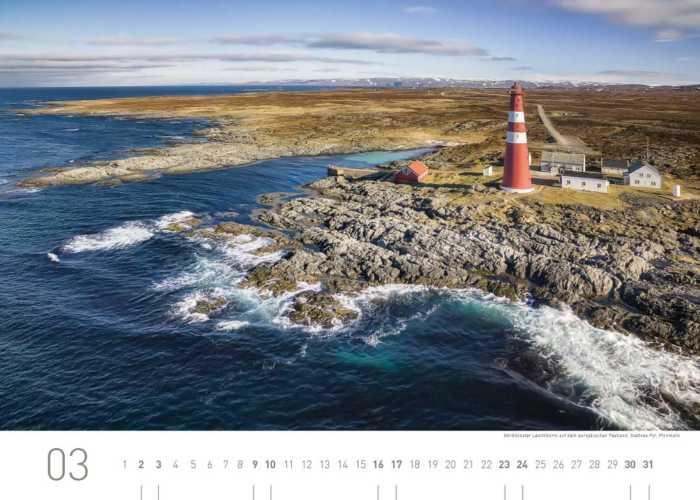 Kalenderblatt März 2019 Norwegen
