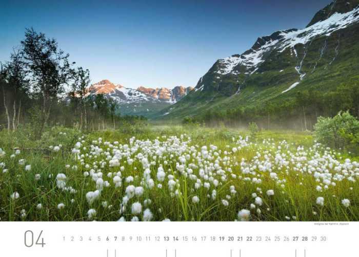 Kalenderblatt April 2019 Norwegen
