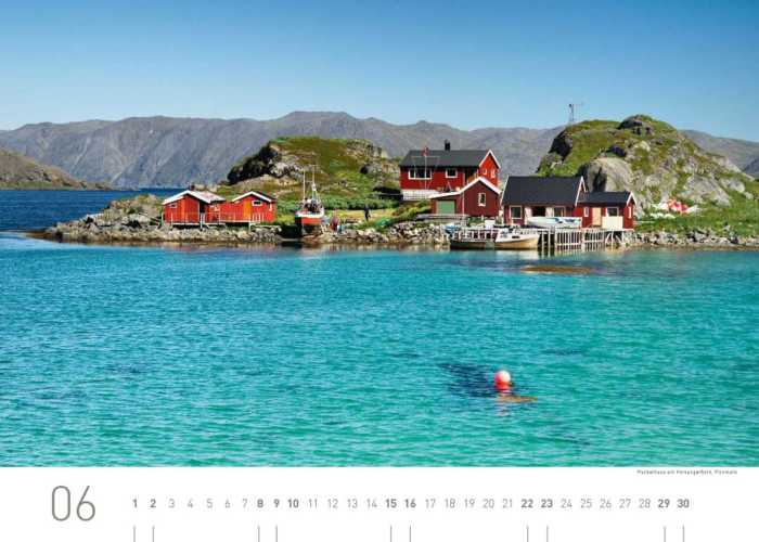 Kalenderblatt Juni 2019 Norwegen