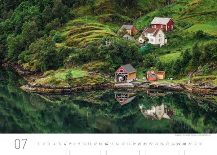 Kalenderblatt Juli 2019 Norwegen