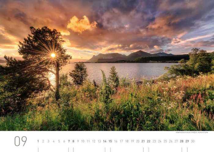 Kalenderblatt September 2019 Norwegen