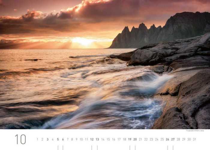 Kalenderblatt Oktober 2019 Norwegen