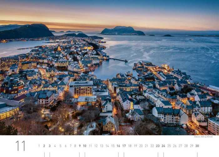 Kalenderblatt November 2019 Norwegen
