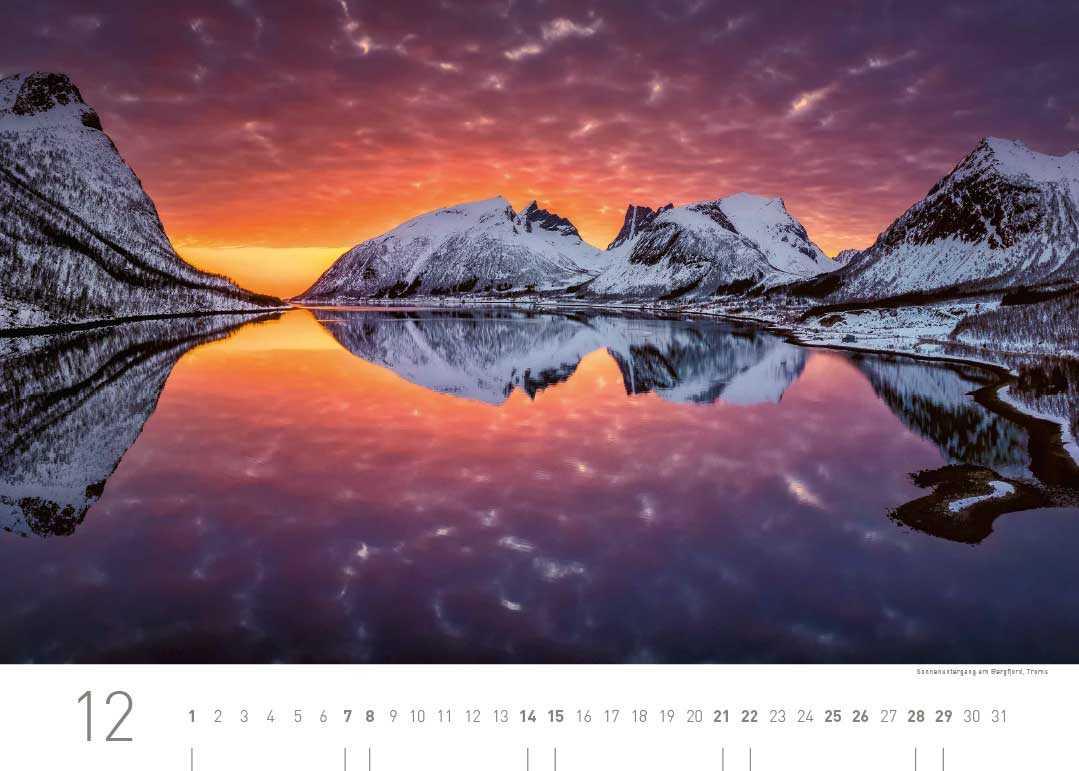 Kalenderblatt Dezember 2019 Norwegen