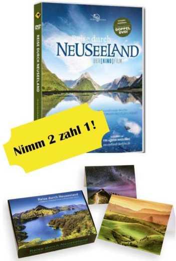 Bei Kauf der Neuseeland-Film-DVD gibt es die Grußkartenbox als Geschenk dazu.