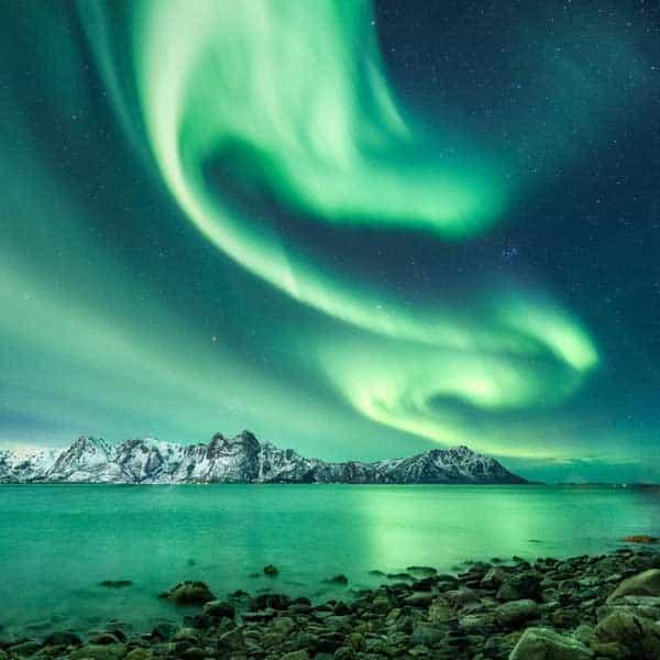 Polarlicht Europas hoher Norden