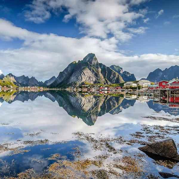 Fischerdorf Hamnoy, Lofoten Norwegen
