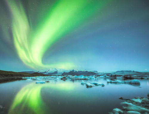 Polarlichter am Jökulsarlon – Island