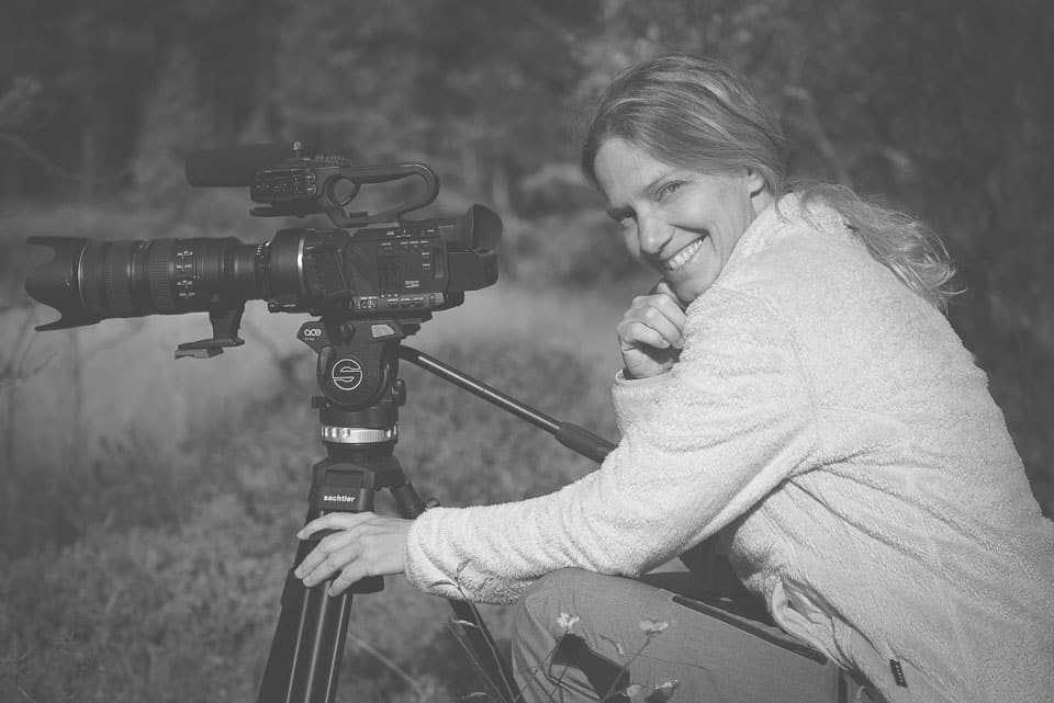 Petra Zwerger-Schoner / Kamerafrau bei Filmarbeit in Finnland